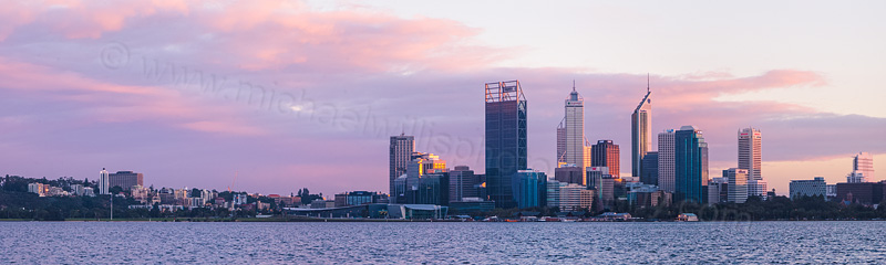 Perth and the Swan River at Sunrise, 9th May 2012