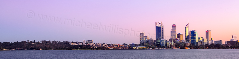 Perth and the Swan River at Sunrise, 23rd May 2012