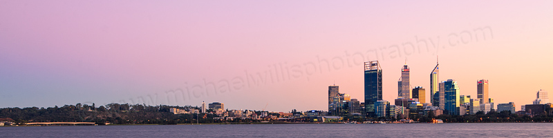 Perth and the Swan River at Sunrise, 28th May 2012