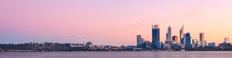 Perth and the Swan River at Sunrise, 27th May 2012