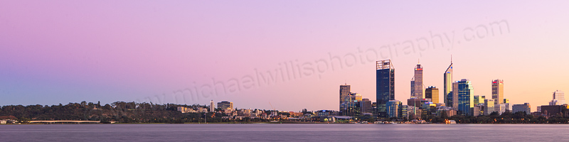 Perth and the Swan River at Sunrise, 30th May 2012