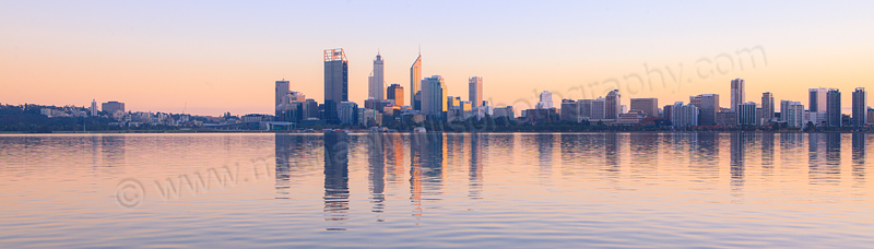 Perth and the Swan River at Sunrise, 2nd June 2012