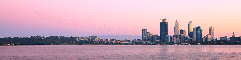 Perth and the Swan River at Sunrise, 2nd September 2012