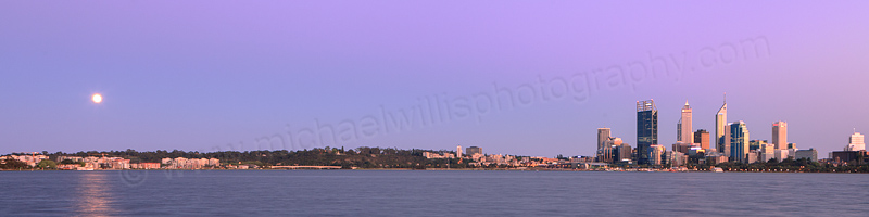Perth and the Swan River at Sunrise, 1st October 2012