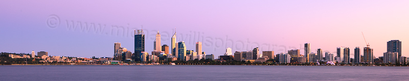Perth and the Swan River at Sunrise, 6th October 2012