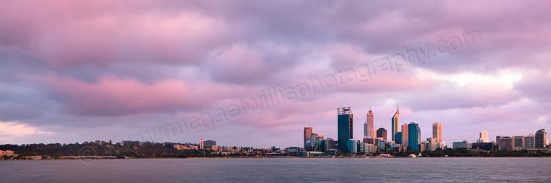 Perth and the Swan River at Sunrise, 12th October 2012