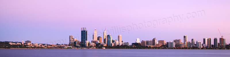 Perth and the Swan River at Sunrise, 25th October 2012