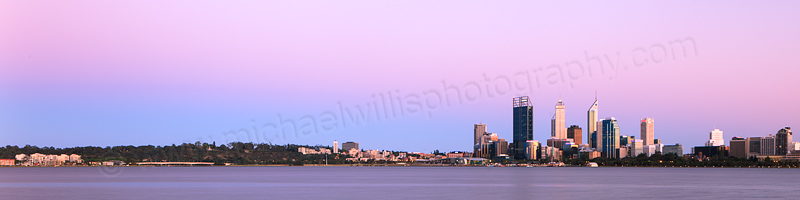 Perth and the Swan River at Sunrise, 27th October 2012