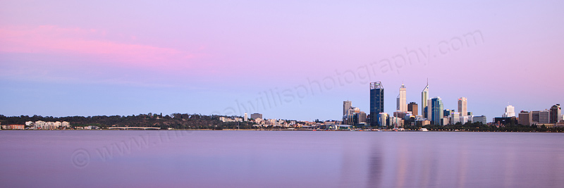 Perth and the Swan River at Sunrise, 12th November 2012