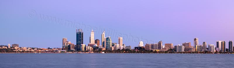 Perth and the Swan River at Sunrise, 17th November 2012