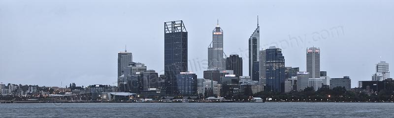 Perth and the Swan River at Sunrise, 28th November 2012