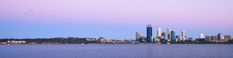 Perth and the Swan River at Sunrise, 19th December 2012