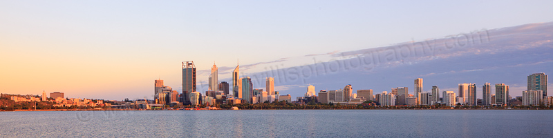Perth and the Swan River at Sunrise, 11th January 2013