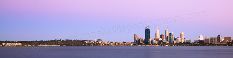 Perth and the Swan River at Sunrise, 19th January 2013