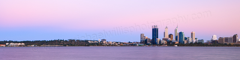 Perth and the Swan River at Sunrise, 10th February 2013