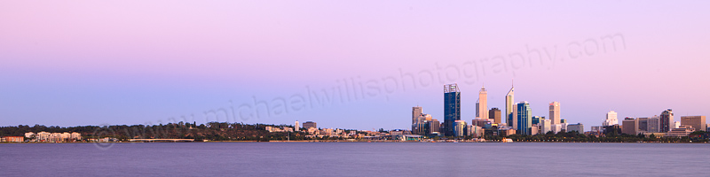 Perth and the Swan River at Sunrise, 19th February 2013