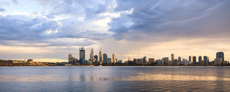Perth and the Swan River at Sunrise, 21st February 2013