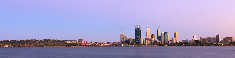 Perth and the Swan River at Sunrise, 25th February 2013