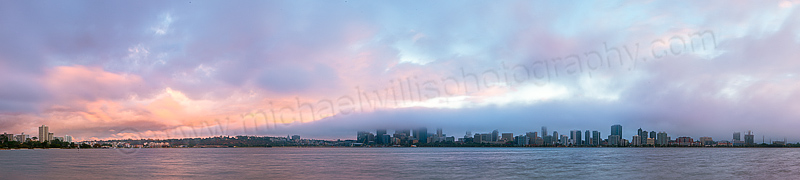 Perth and the Swan River at Sunrise, 4th March 2013