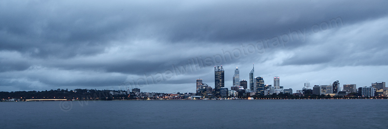 Perth and the Swan River at Sunrise, 2nd May 2013