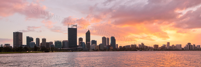 Perth and the Swan River at Sunrise, 9th May 2013