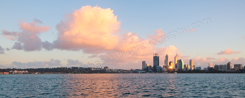 Perth and the Swan River at Sunrise, 10th May 2013