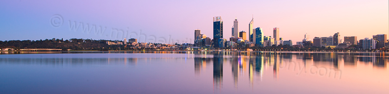 Perth and the Swan River at Sunrise, 12th May 2013