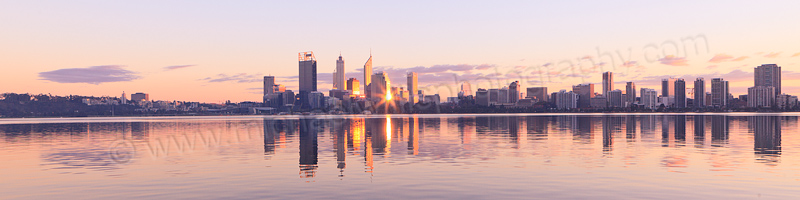 Perth and the Swan River at Sunrise, 19th May 2013