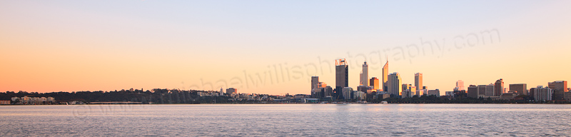 Perth and the Swan River at Sunrise, 22nd May 2013