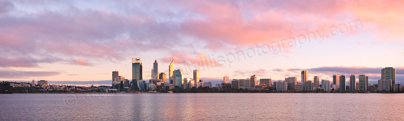 Perth and the Swan River at Sunrise, 2nd June 2013