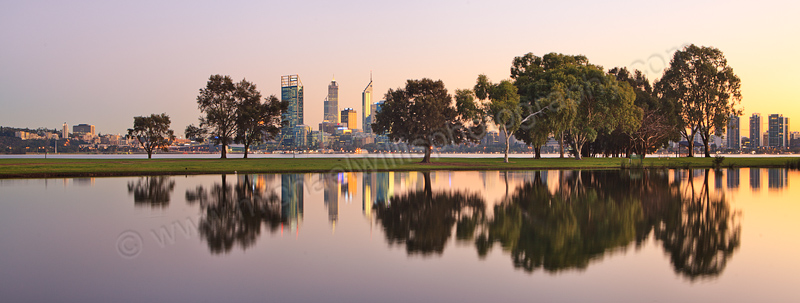 Sunrise by the Swan River, 2nd July 2013