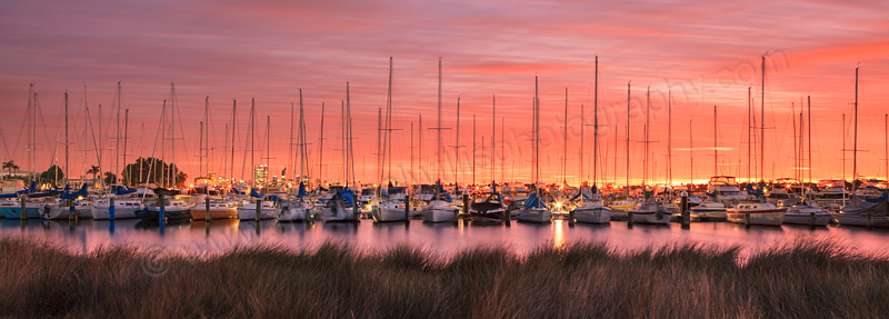 South of Perth Yacht Club at Sunrise, 15th July 2013