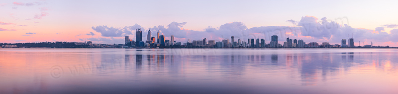 Perth and the Swan River at Sunrise, 1st August 2013