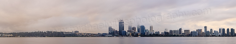 Perth and The Swan River at Sunrise, 6th August 2013
