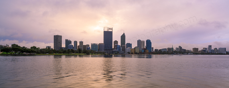 Perth and The Swan River at Sunrise, 8th August 2013