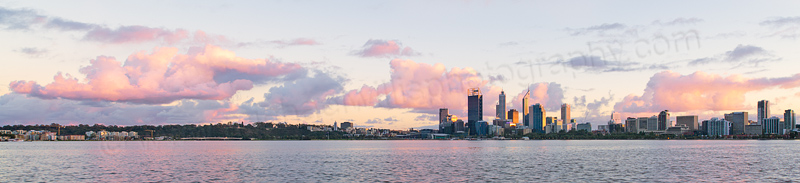 Perth and The Swan River at Sunrise, 10th August 2013