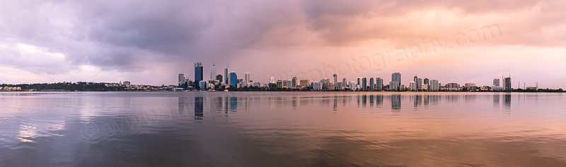 Perth and The Swan River at Sunrise, 11th August 2013