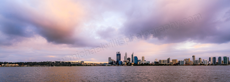 Perth and The Swan River at Sunrise, 12th August 2013