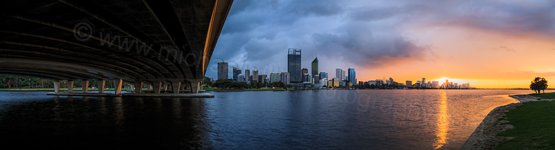 Perth and the Swan River at Sunrise, 26th August 2013