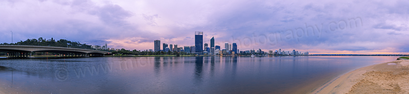 Perth and the Swan River at Sunrise, 25th August 2013