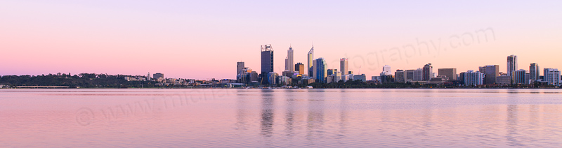 Perth and the Swan River at Sunrise, 24th August 2013