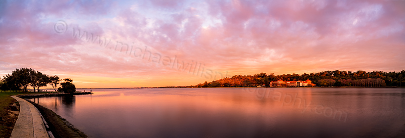 The Old Swan Brewery and Swan River at Sunrise, 27th August 2013
