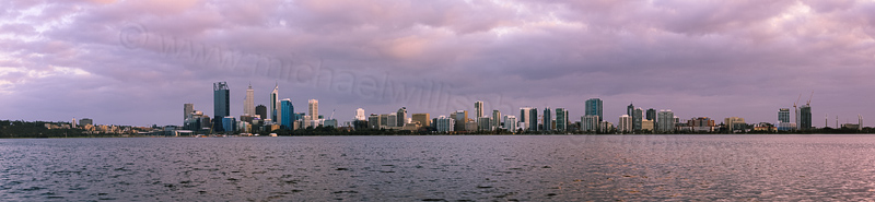 Perth and the Swan River at Sunrise, 1st September 2013