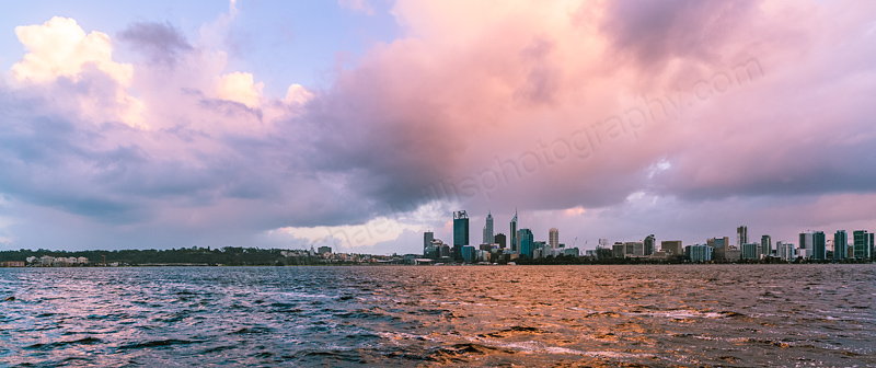 Perth and the Swan River at Sunrise, 11th September 2013