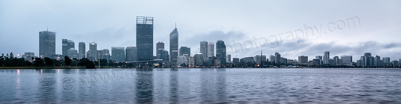 Perth and the Swan River at Sunrise, 14th September 2013