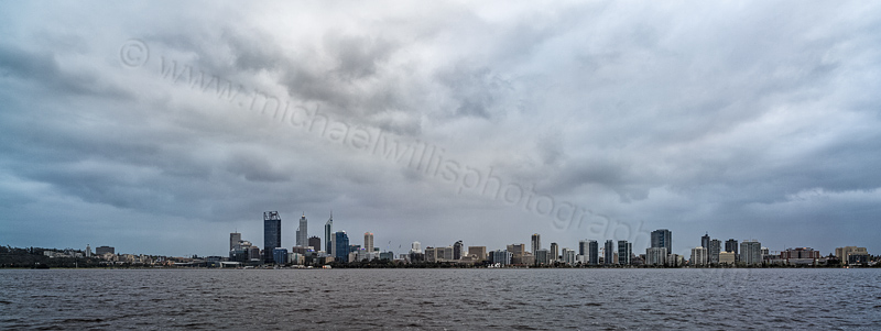 Perth and the Swan River at Sunrise, 19th September 2013