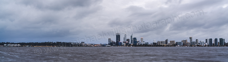 Perth and the Swan River at Sunrise, 22nd September 2013