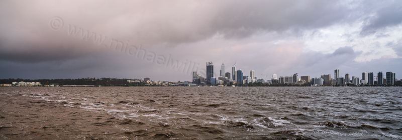 Perth and the Swan River at Sunrise, 23rd September 2013