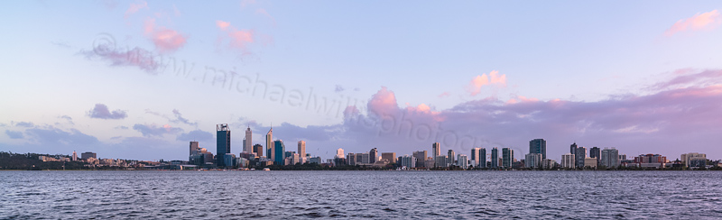Perth and the Swan River at Sunrise, 25th September 2013