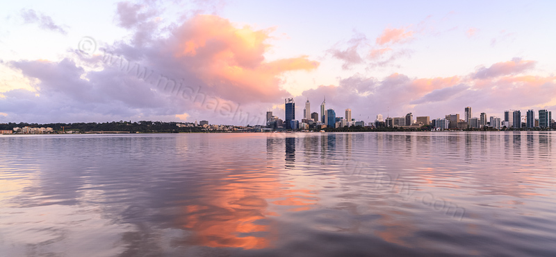Perth and the Swan River at Sunrise, 30th September 2013